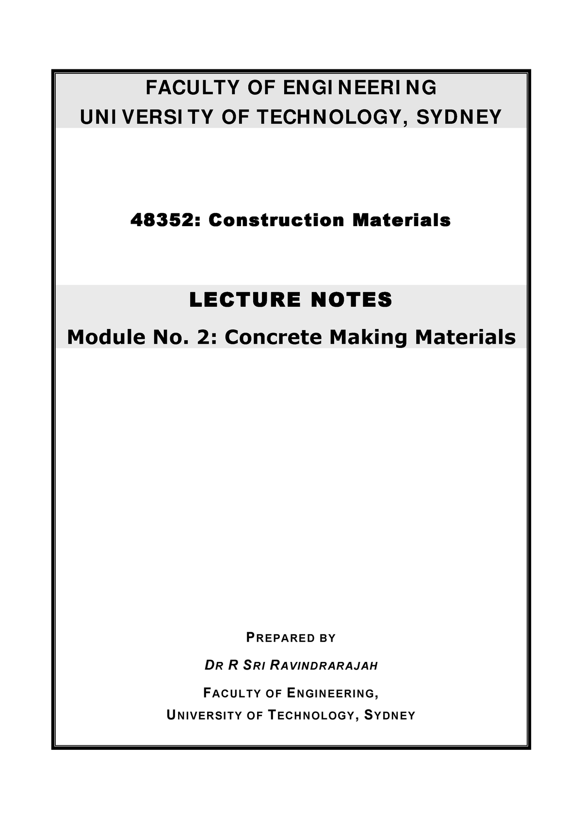 Lecture notes, lectures all - module 2, from the teacher