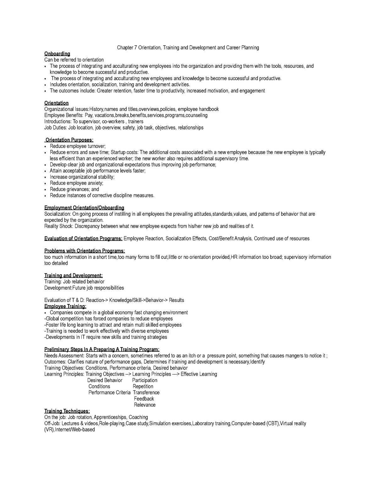 MHR 523 After Midterm - Summary Human Resources Management