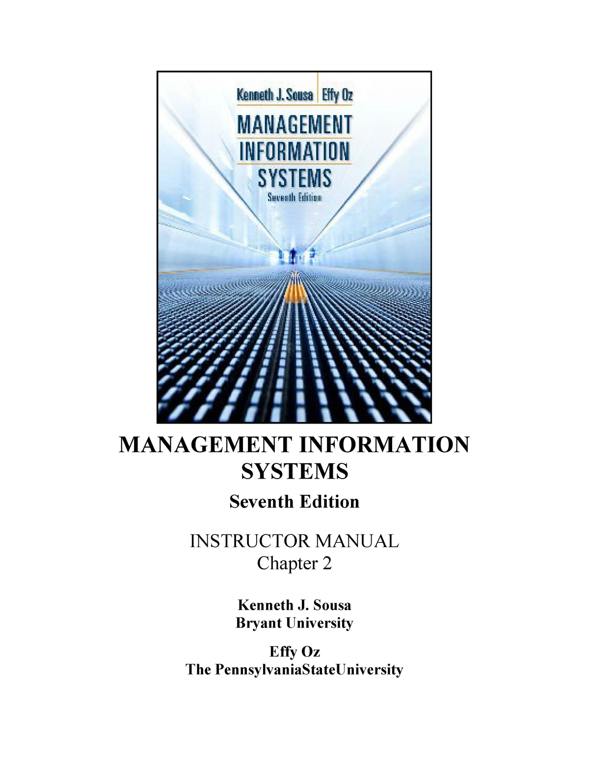 Solution Manual for Management Information Systems 7th