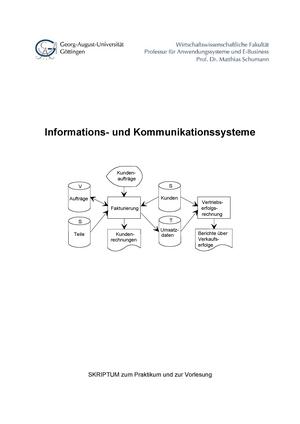 Iks skript wise 1112 - Zusammenfassung Informations- und ...