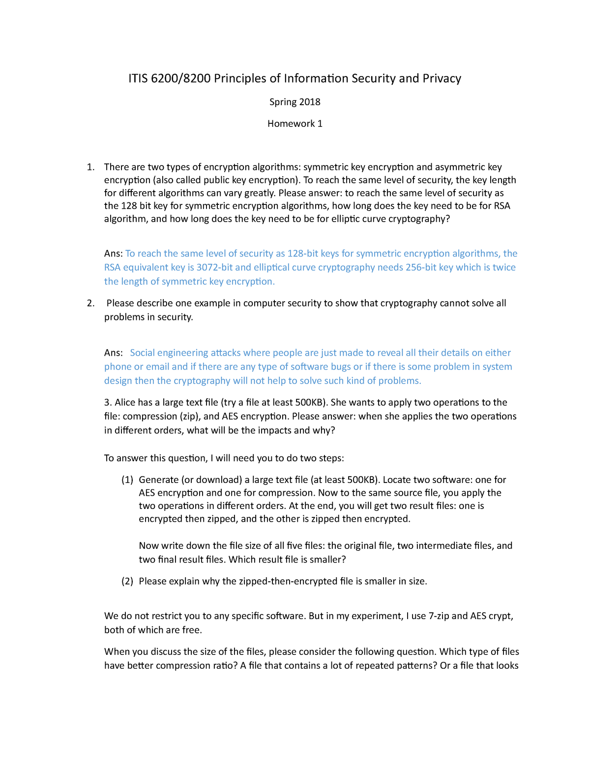 PISP HW01 - ITIS 6200: Prin Info Security & Privacy - StuDocu