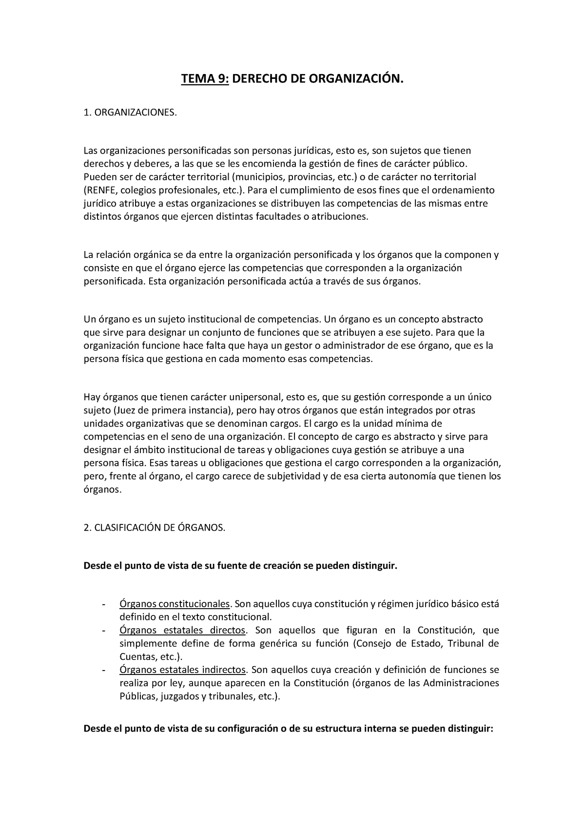 Tema 9 Magistrales Fundamentos Del Derecho Administrativo