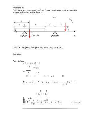 Sample/practice exam 2016, questions and answers - Statics