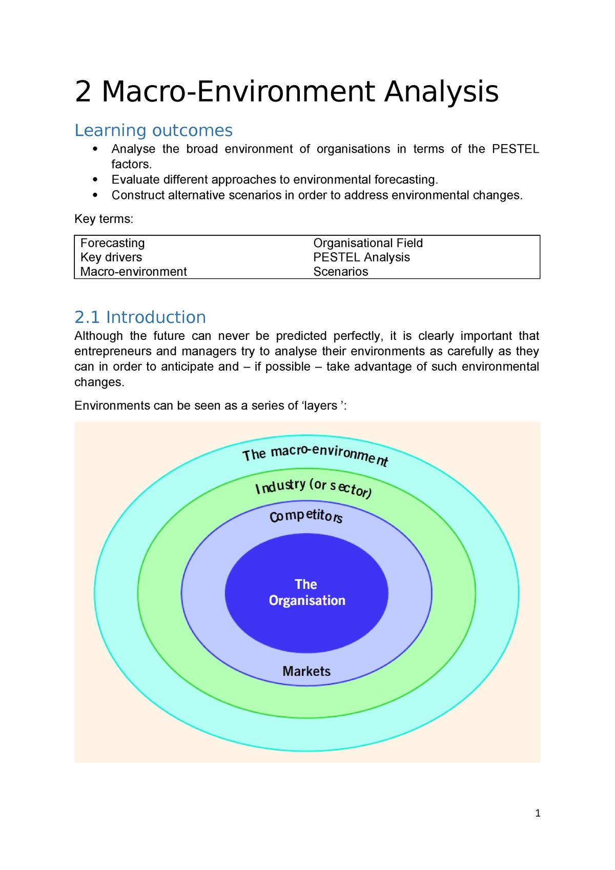 2 Macro Environment Analysis - Strategy BUSA5204A - StuDocu