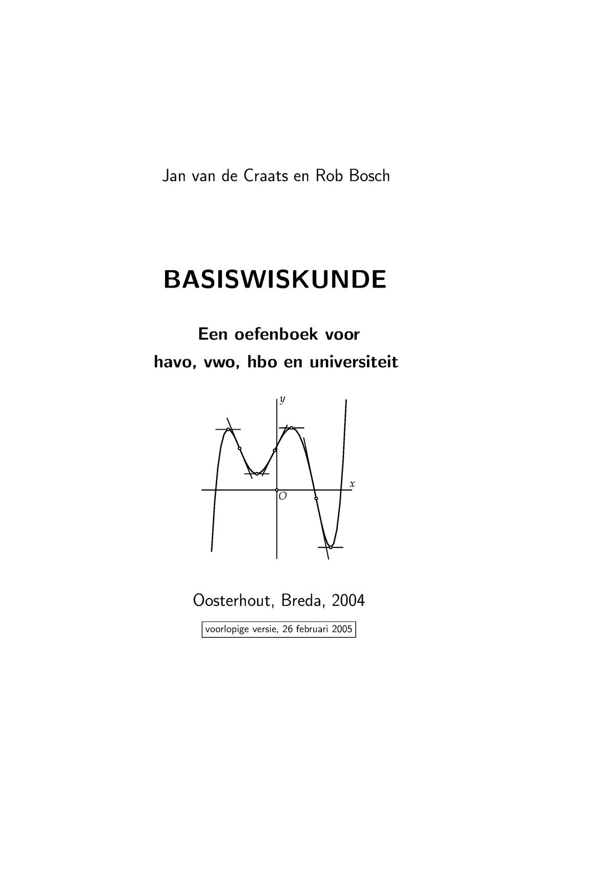 Basiswiskunde - hoi - Basisvaardigheden Wiskunde - StudeerSnel