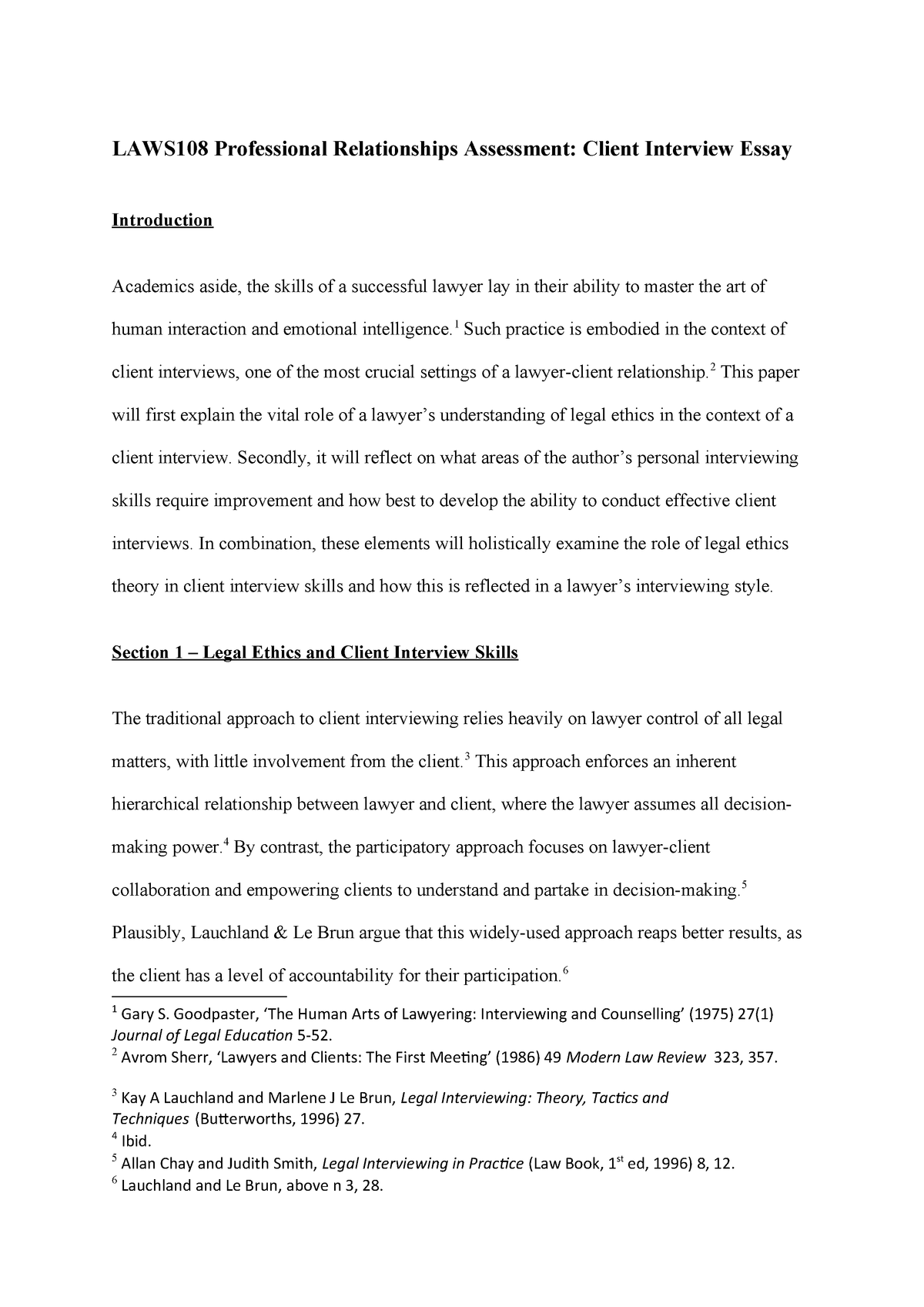 counseling experience essay