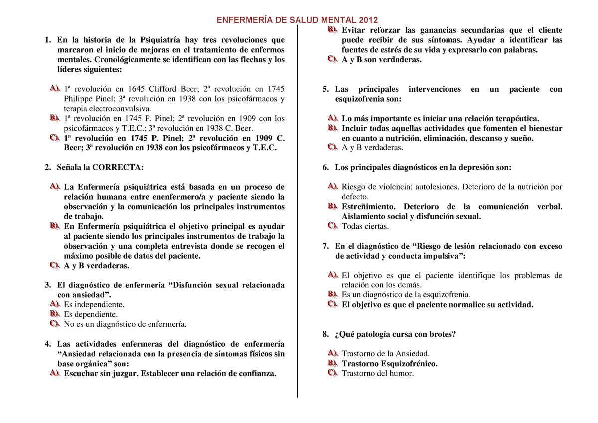 Examen 27 Enero 2012 Preguntas Y Respuestas Studocu