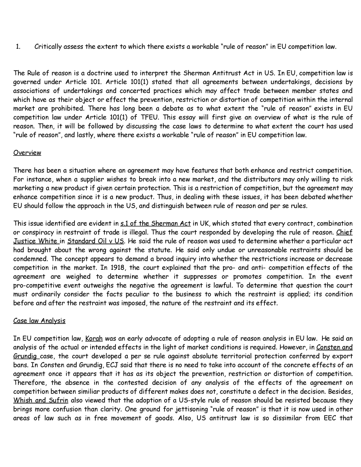 A application letter