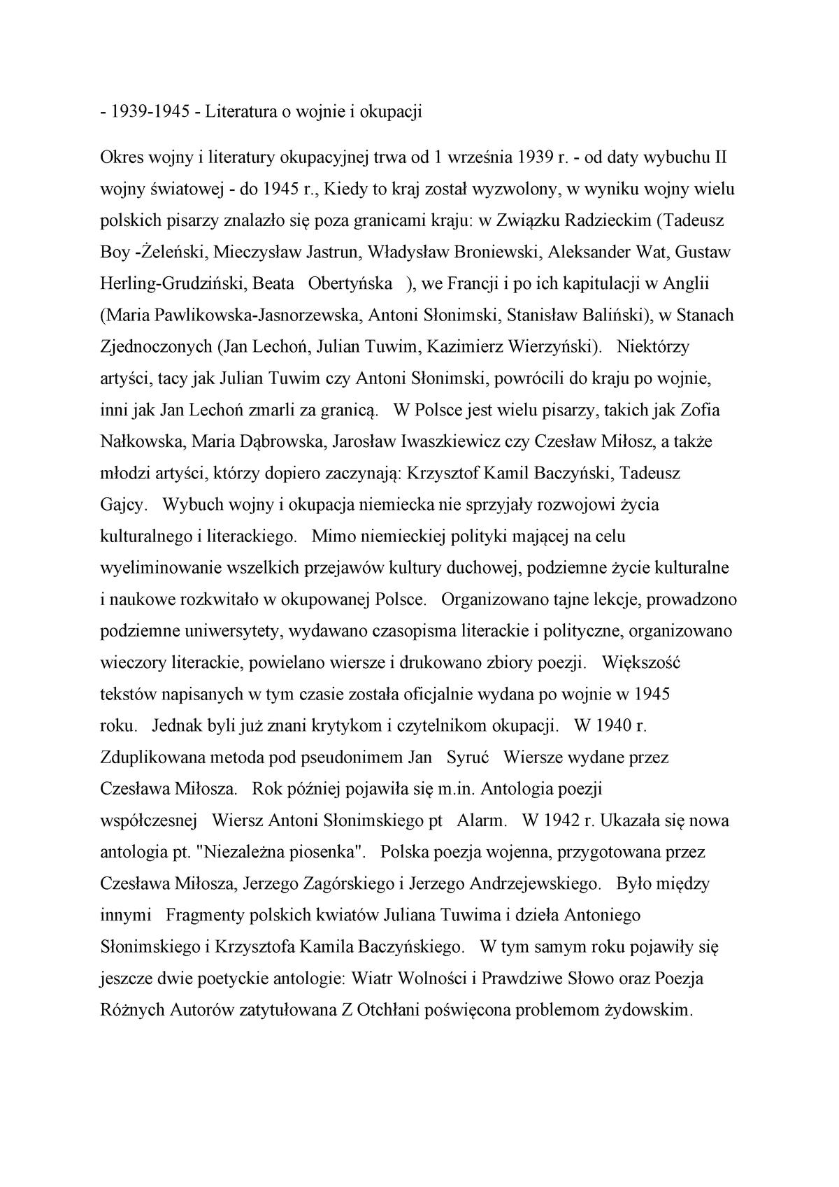 Lit Wojny I Okupacji 2 Wykład Numer 2 1707 Litw Io Studocu