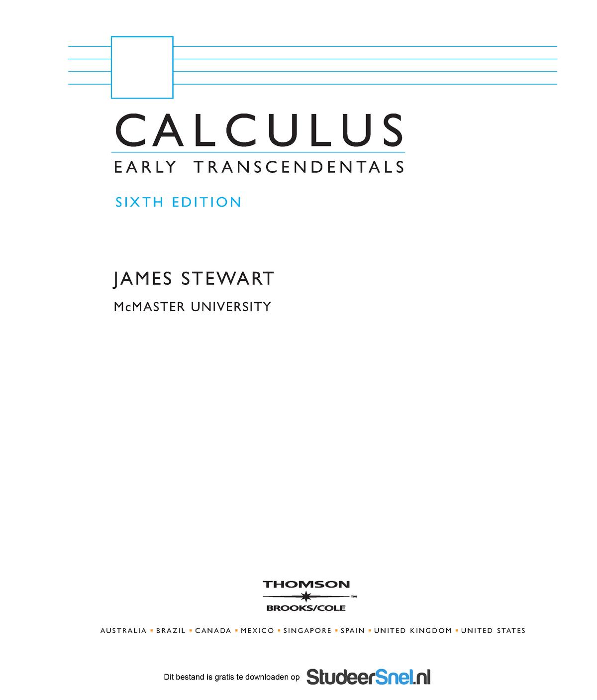 stewart calculus homework hints 6e