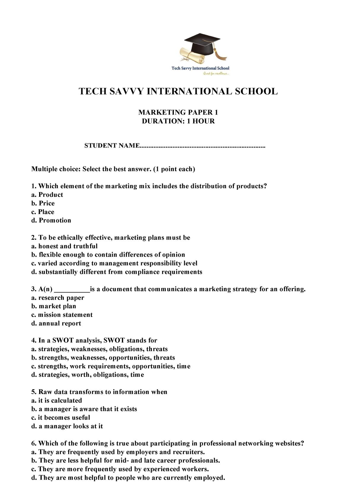 Exam 2019 - COS1521: Computer Systems: Fundamental Concepts