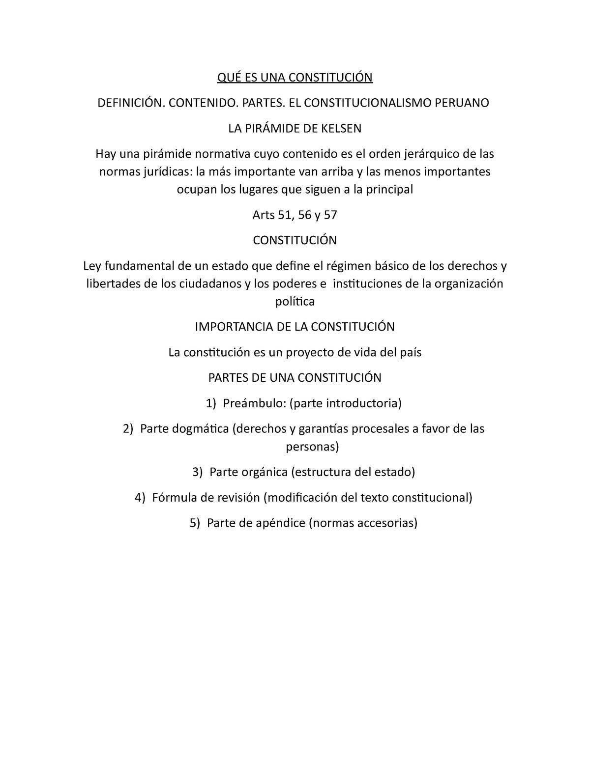 Qué Es Una Constitución 060609 Usmp Studocu