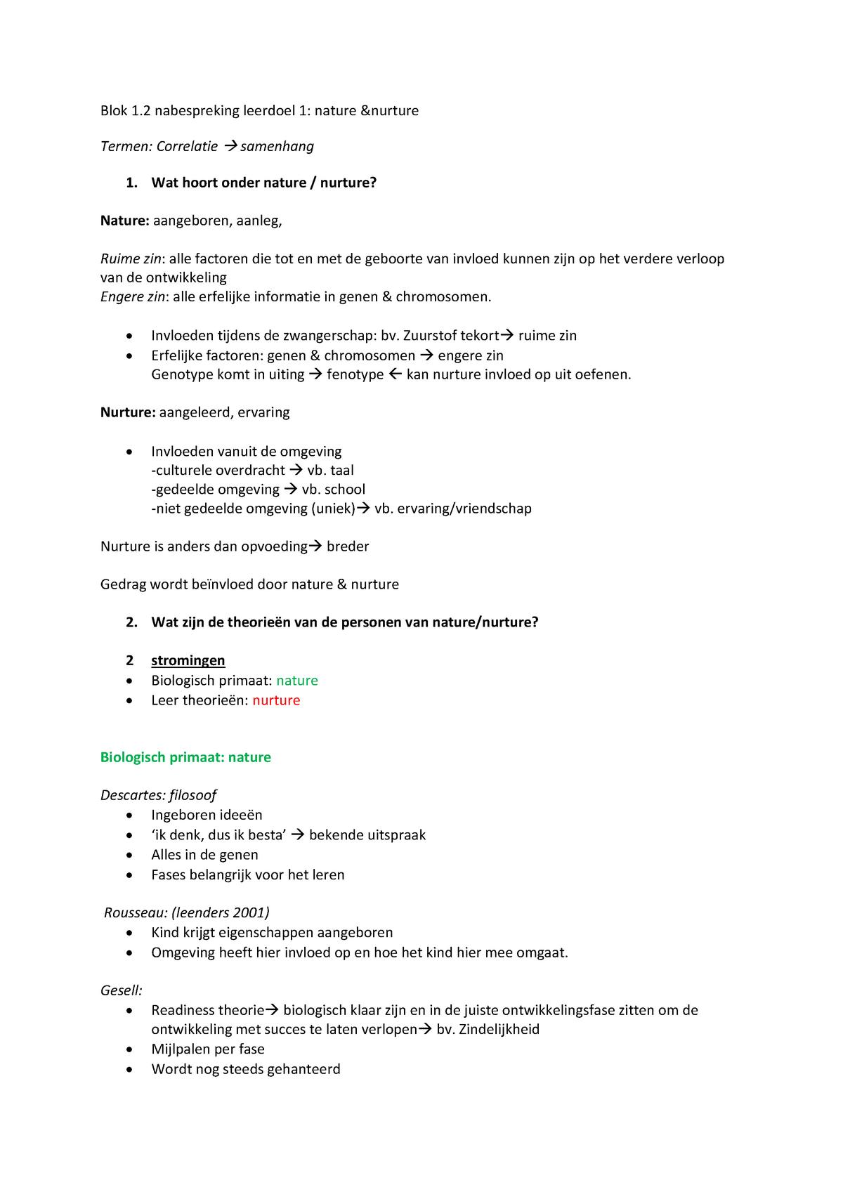 Werkgroep Uitwerkingen Inleiding In De Pedagogische