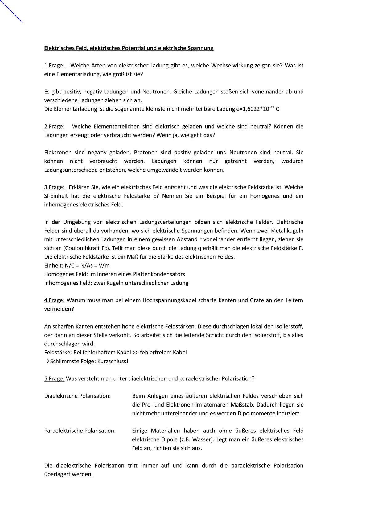 Fragen E Technik Boker Elektrotecknik I Und Ii Ete2018 Studocu