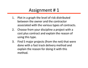 various types of contracts