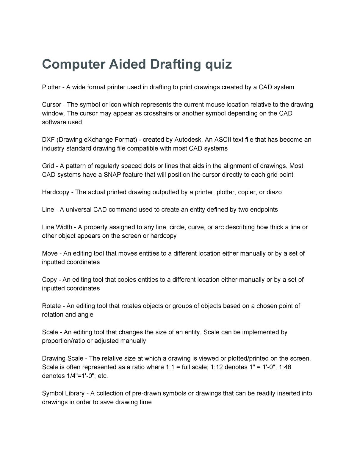 Tenta 2016 - ET 4330 :Advanced Computer-Aided Drafting - StuDocu