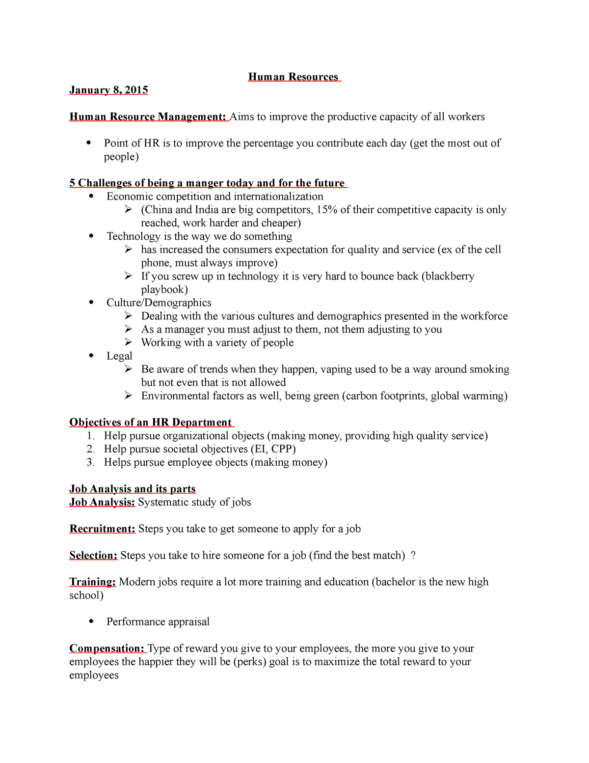Lecture notes, lecture Lecture notes for Chapters 1 to