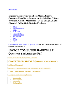 Top 100 Interview Questions And Answers Pdf