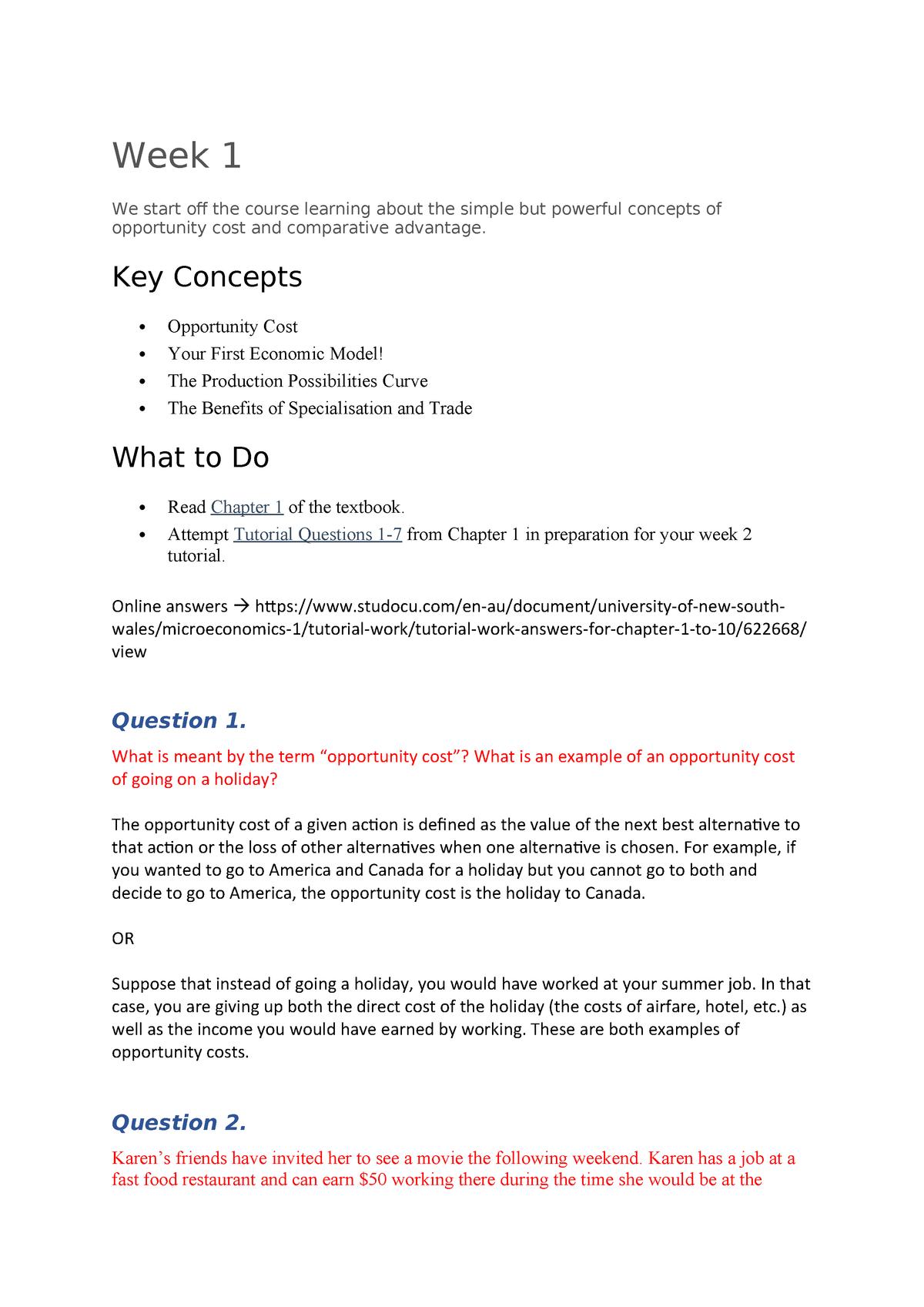 WK 2 Tutorial Q's - ECON1101 Microeconomics 1 - UNSW - StuDocu