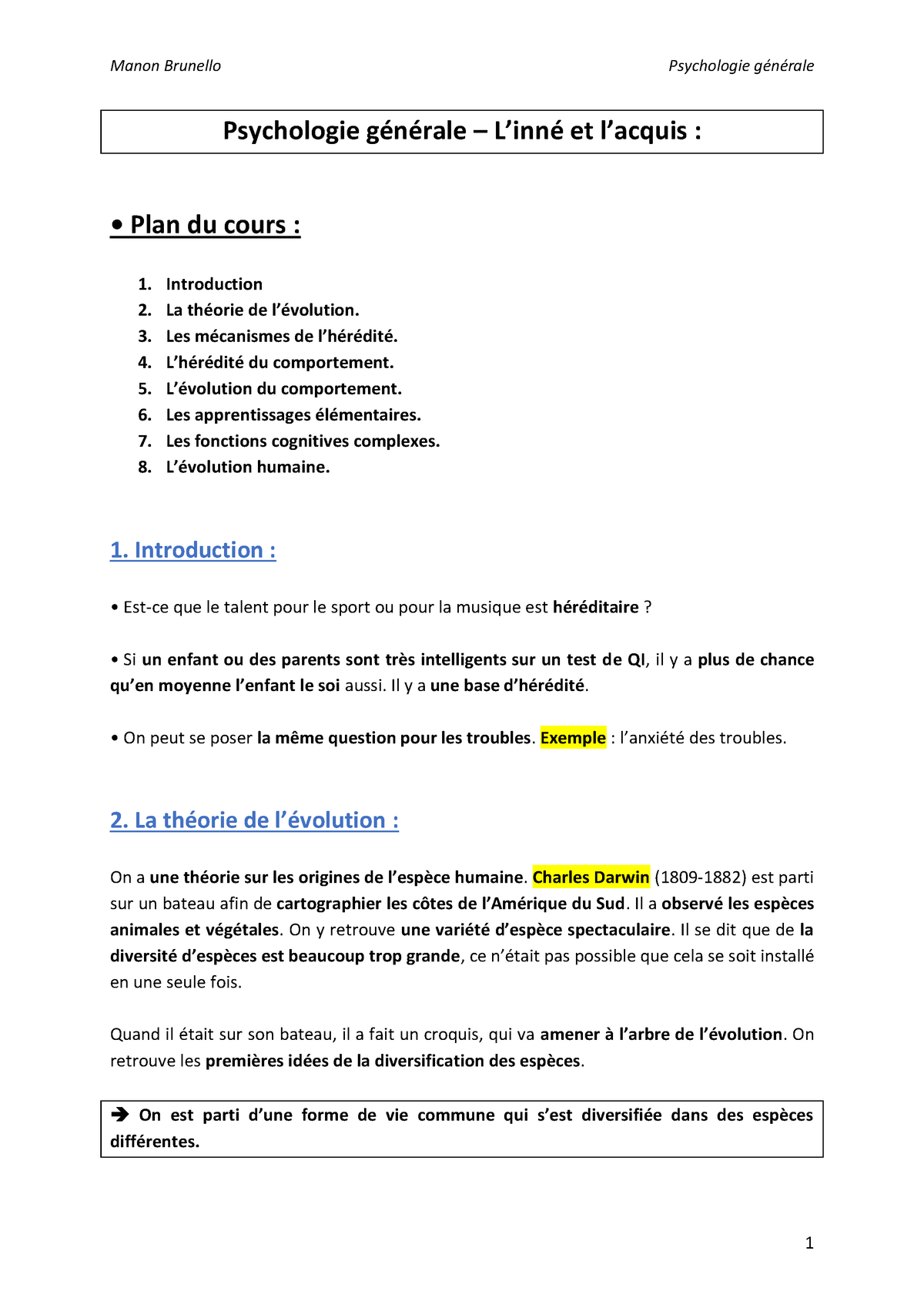 Write examples of thesis