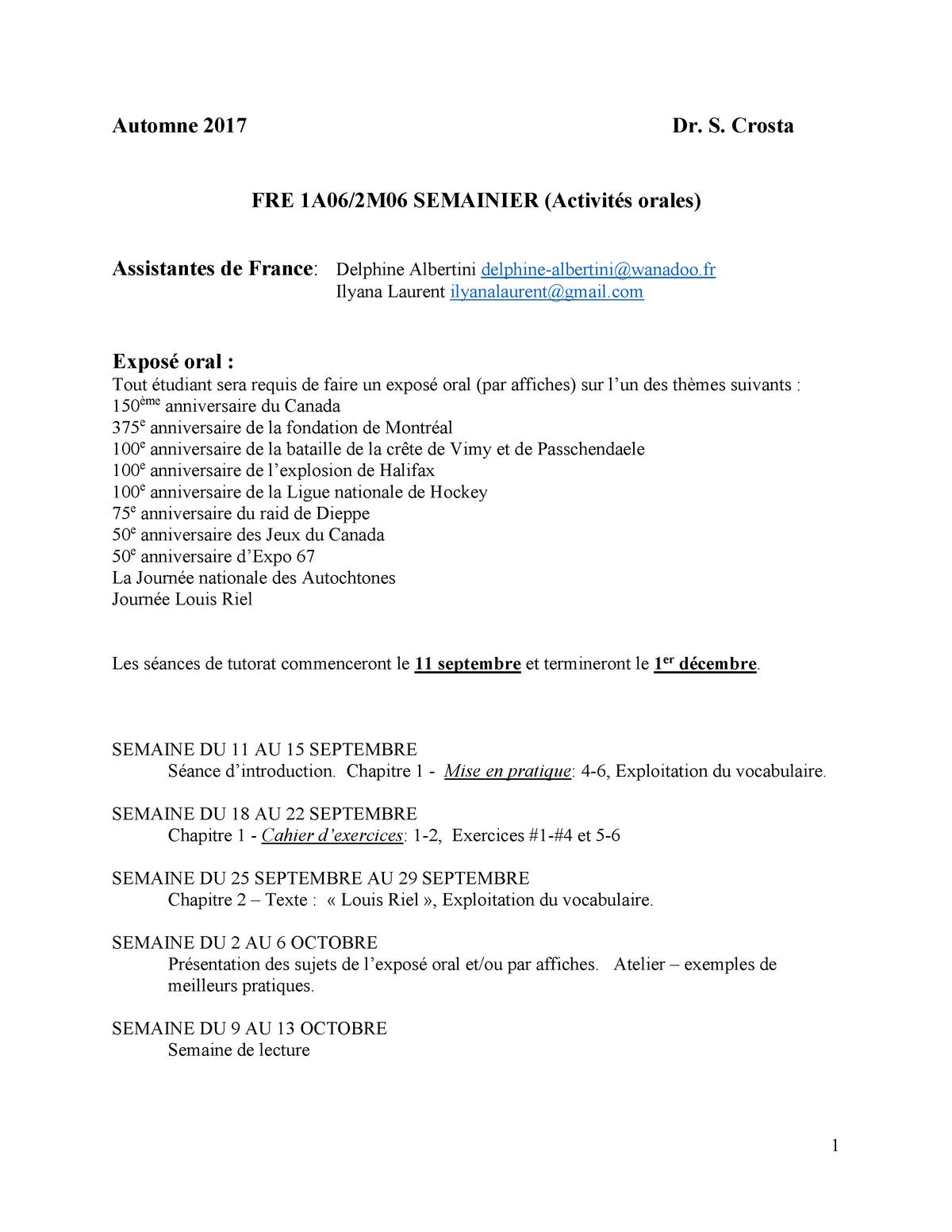 Exemple De Présentation D Un Exposé Oral - Exemple de Groupes