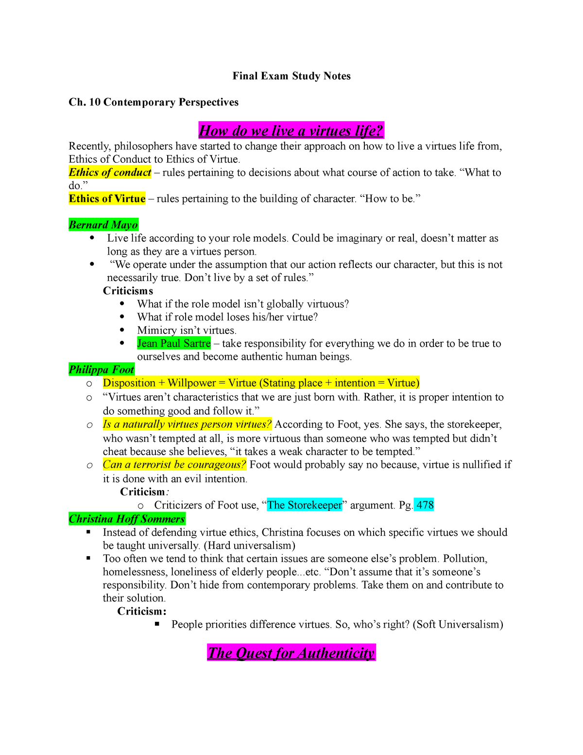 Summary PHIL 230E PHIL 230E 16 Jun 2019 - StuDocu