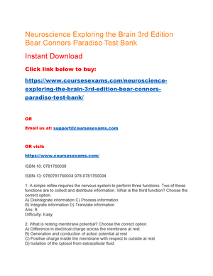 Exploring brain neuroscience pdf the