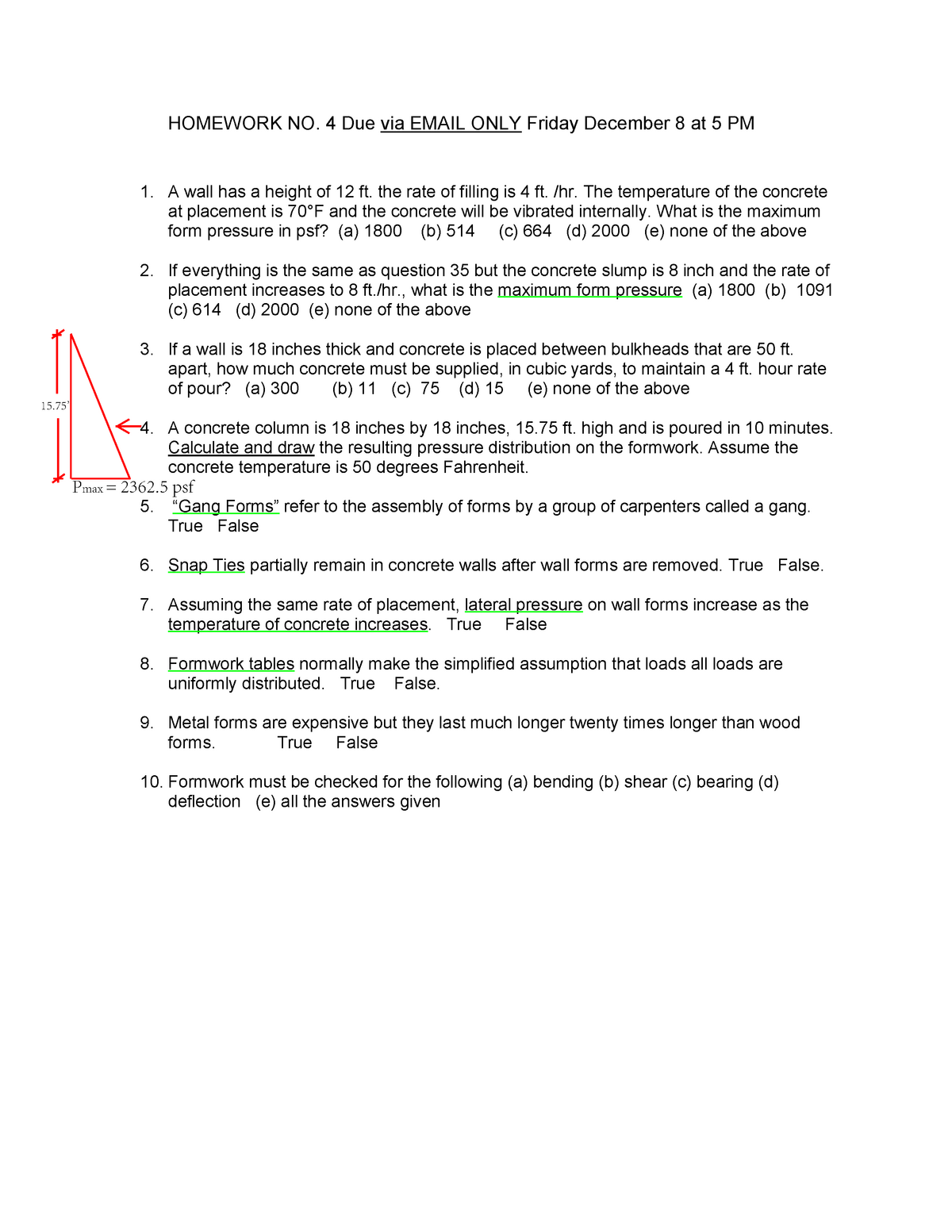 Hw4 solutions - hw4 - E4131: PRIN OF CONSTRUCTN TECHNIQUES