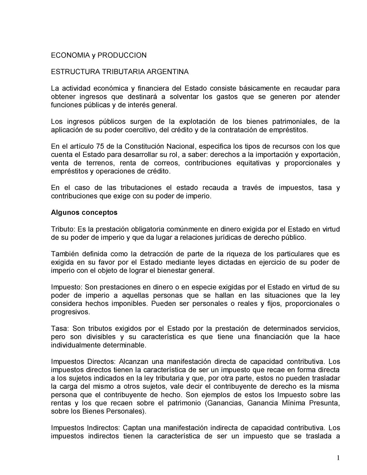 184 Estructura Tributaria Argentina Versión Actualizada