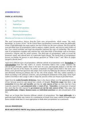 Jurisprudence Notes LLB pdf - LA3005 - London - StuDocu