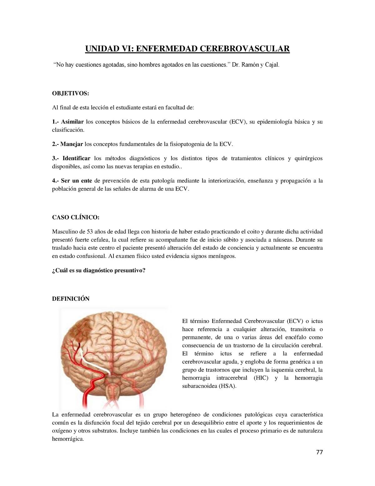 enfermedad de isquemia cerebral