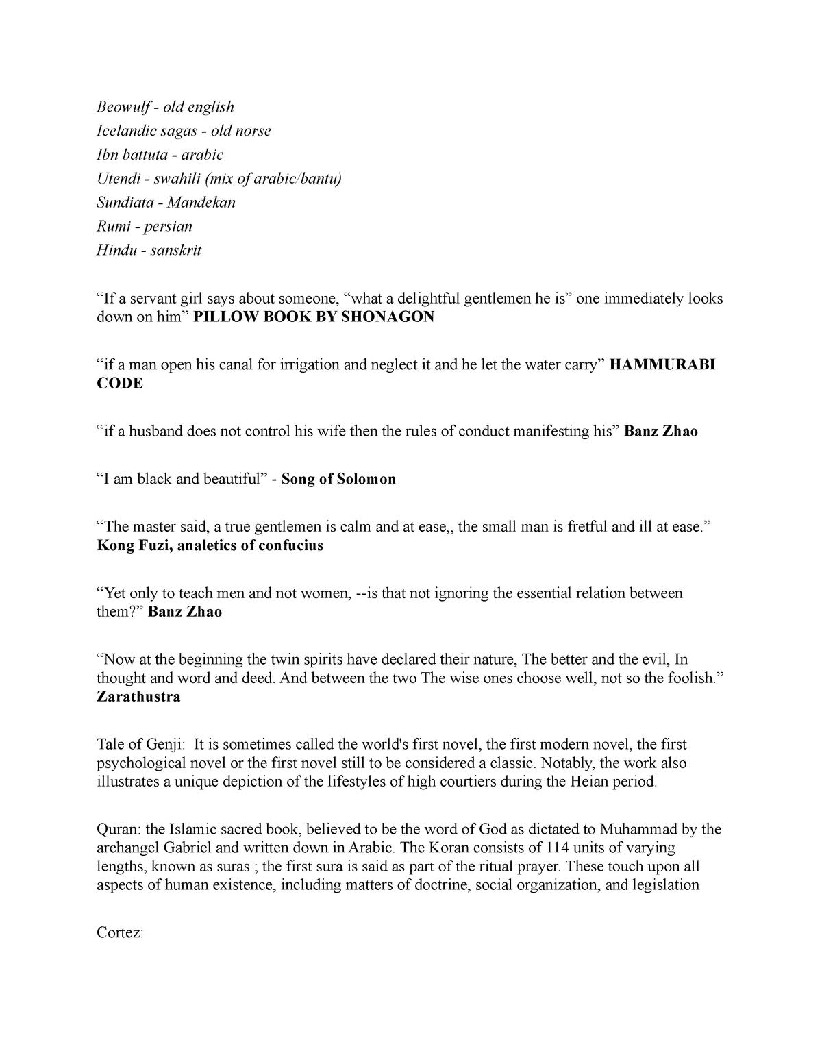 Final Exam Review - HIST 208: World History I - StuDocu