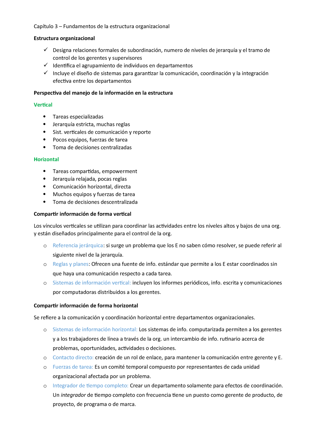 Cap 3 Orga Organización Y Dirección Empresarial 2089