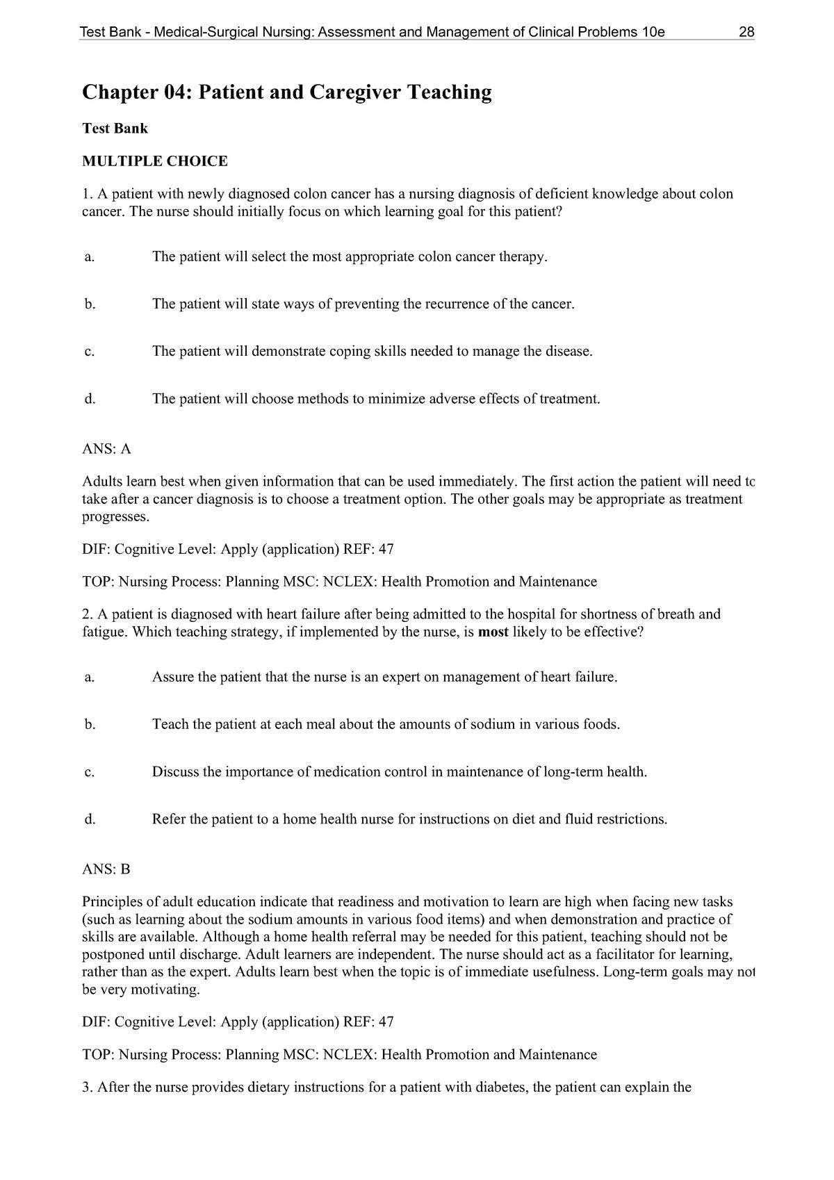 Chapter 04 Patient And Caregiver Teaching Nurs 4521 Uh Studocu