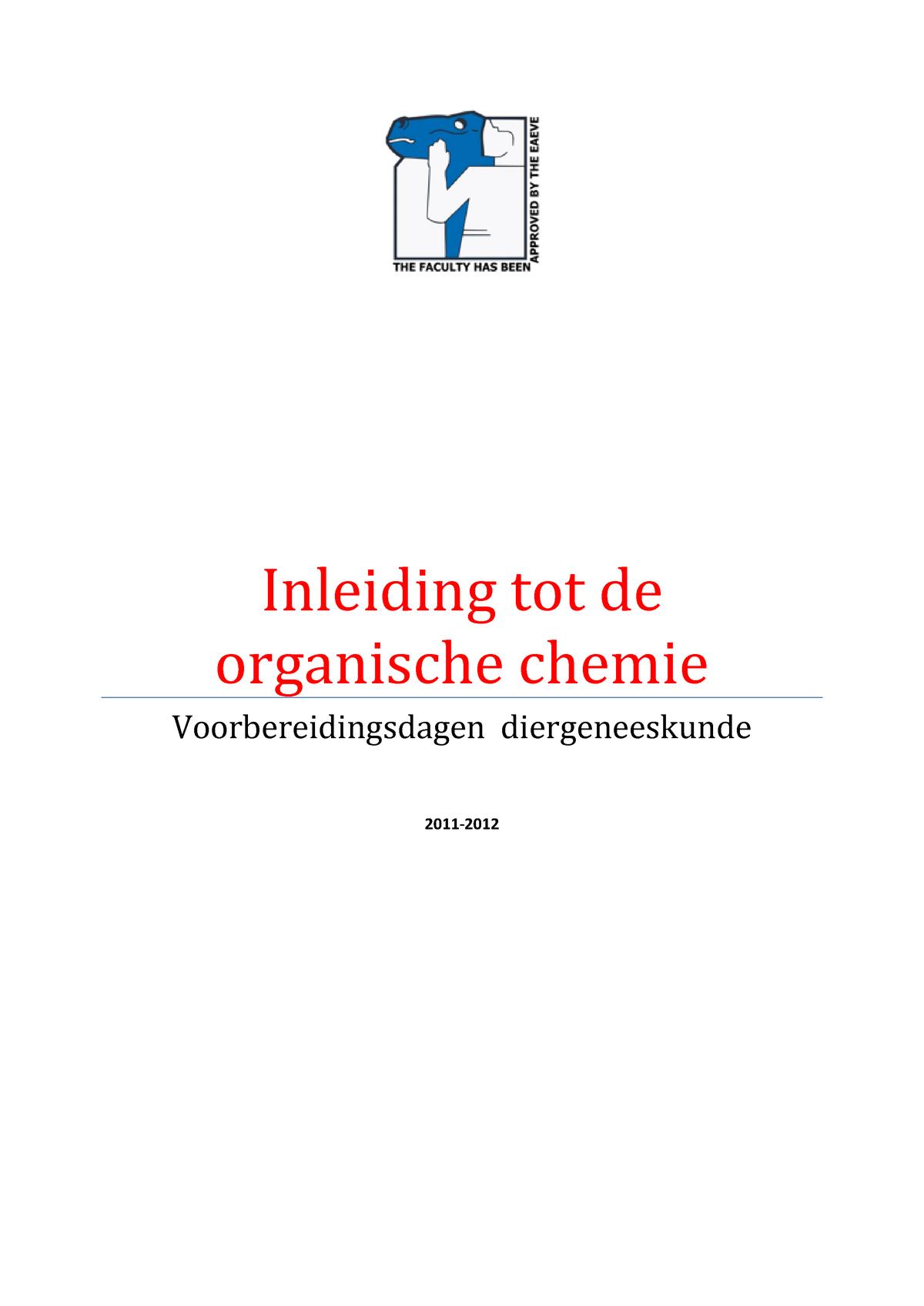 Inleiding Tot De Organische Chemie 2011 2012 1033fbdbmw