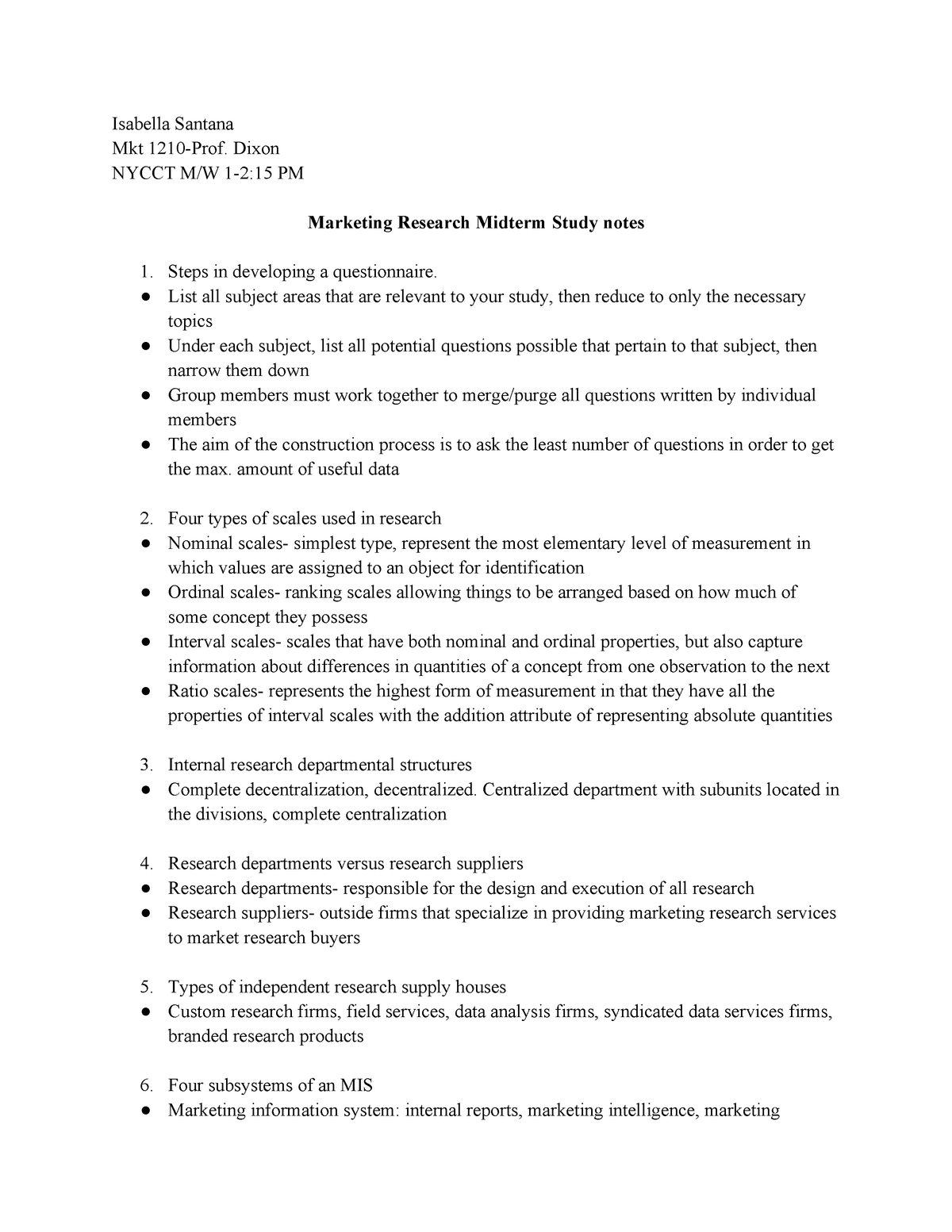 Midterm Spring 2018, questions and answers - MKT 1210 - StuDocu