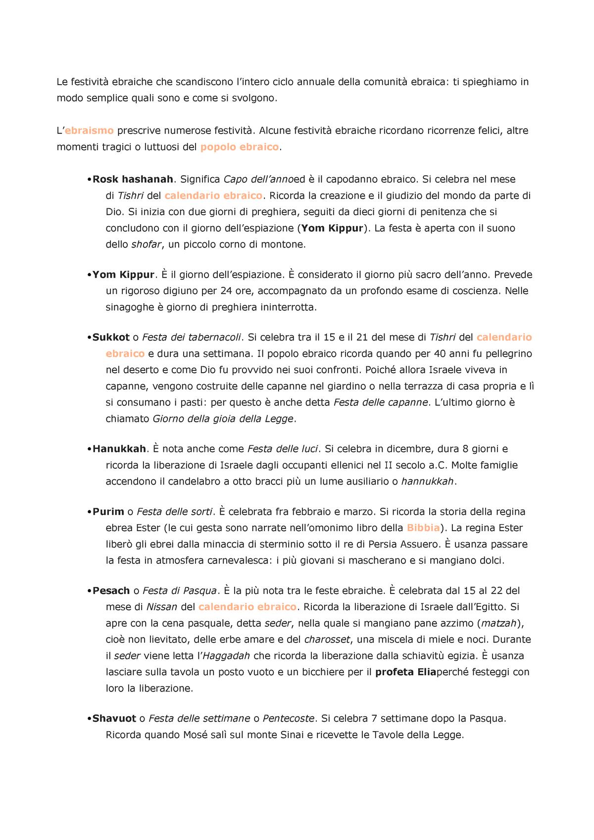 Calendario Ebreo.Ebraismo Summary Standardfalle Staatsrecht I Studocu
