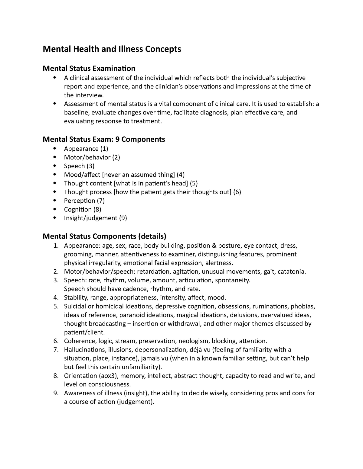 Week 2 Notes Nurs 3034 Mental Health Illness Theory Lu Studocu