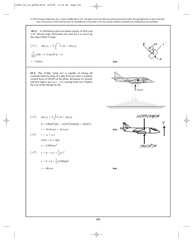 Engineering Mechanics Dynamics 12th CH15 Solutions - WB1135