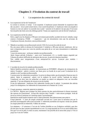 Droit Du Travail Chapitre 2 Universite Paris 8 Studocu