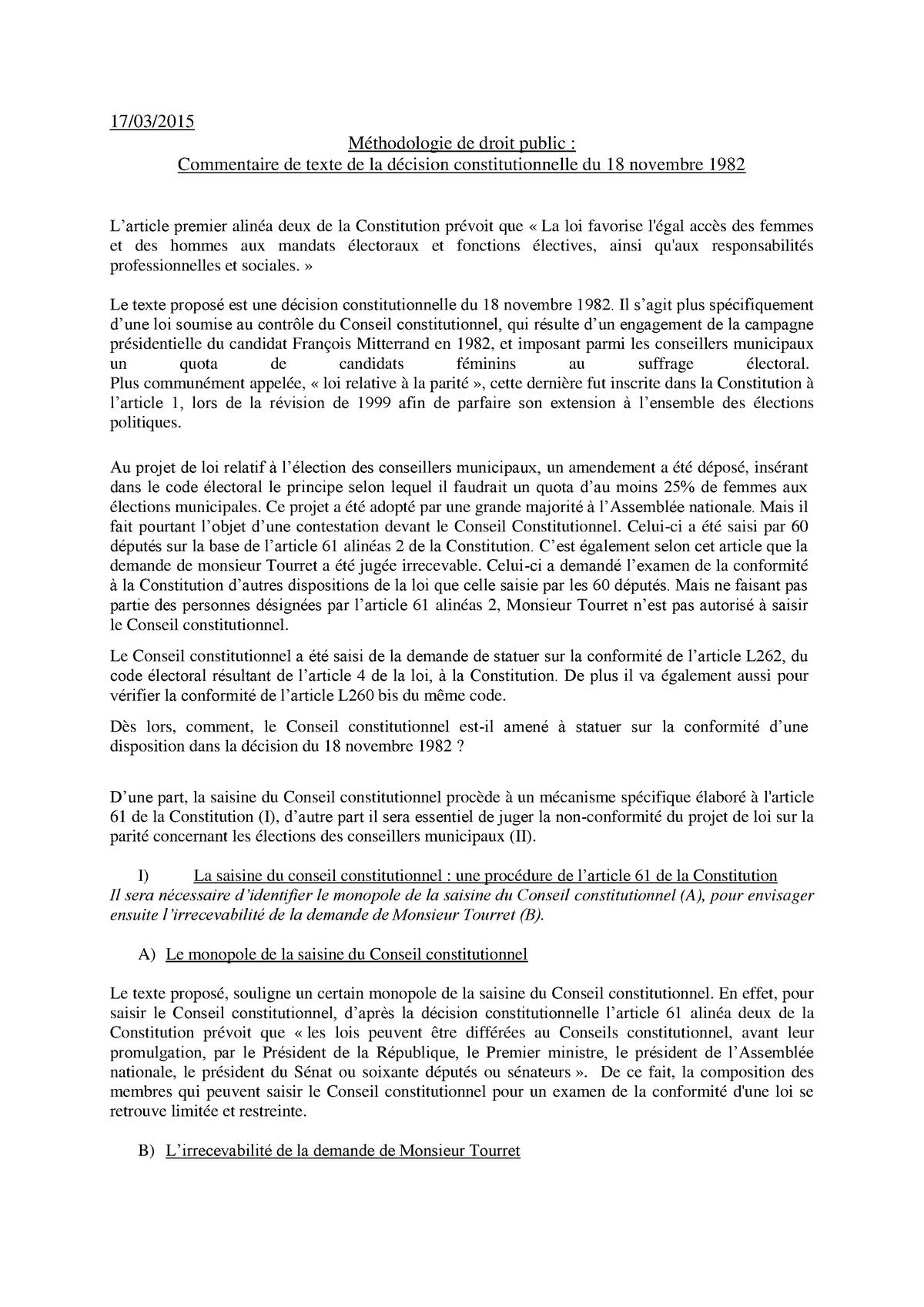 Technique de dissertation juridique