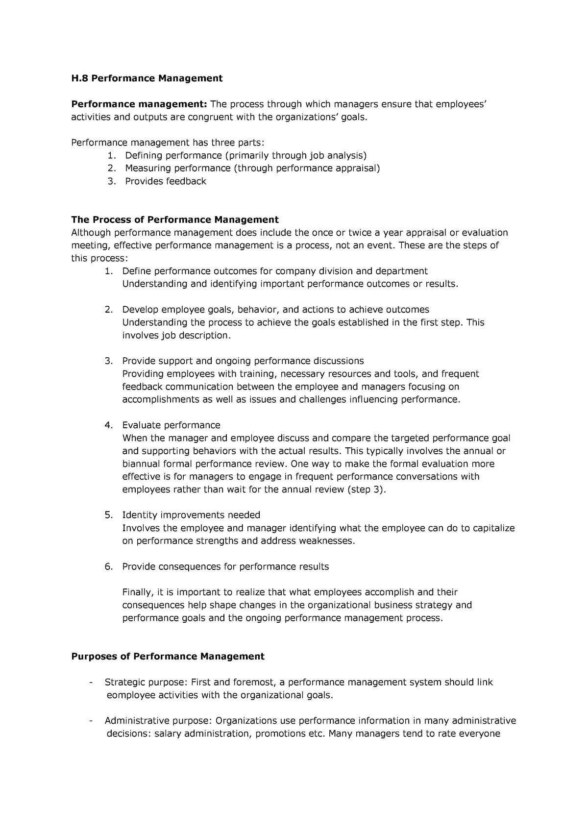 Summary Human Resources Management: book