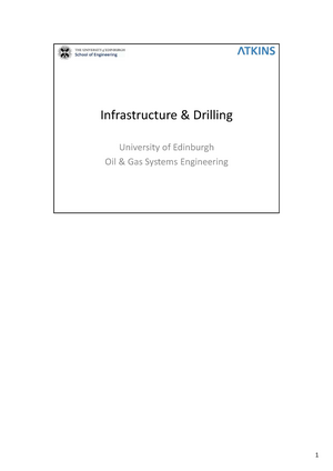 3. Infrastructure U0026 Drilling 2017   SCEE11008: Oil And Gas Systems  Engineering 5   StuDocu