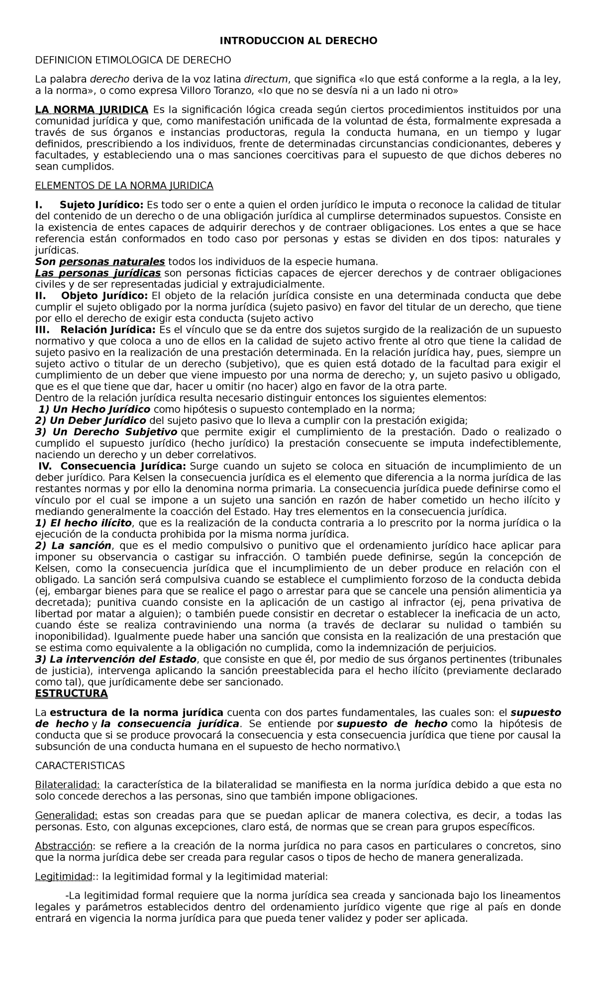 Introduccion Y Sujetos Derecho 1098 Usta Studocu