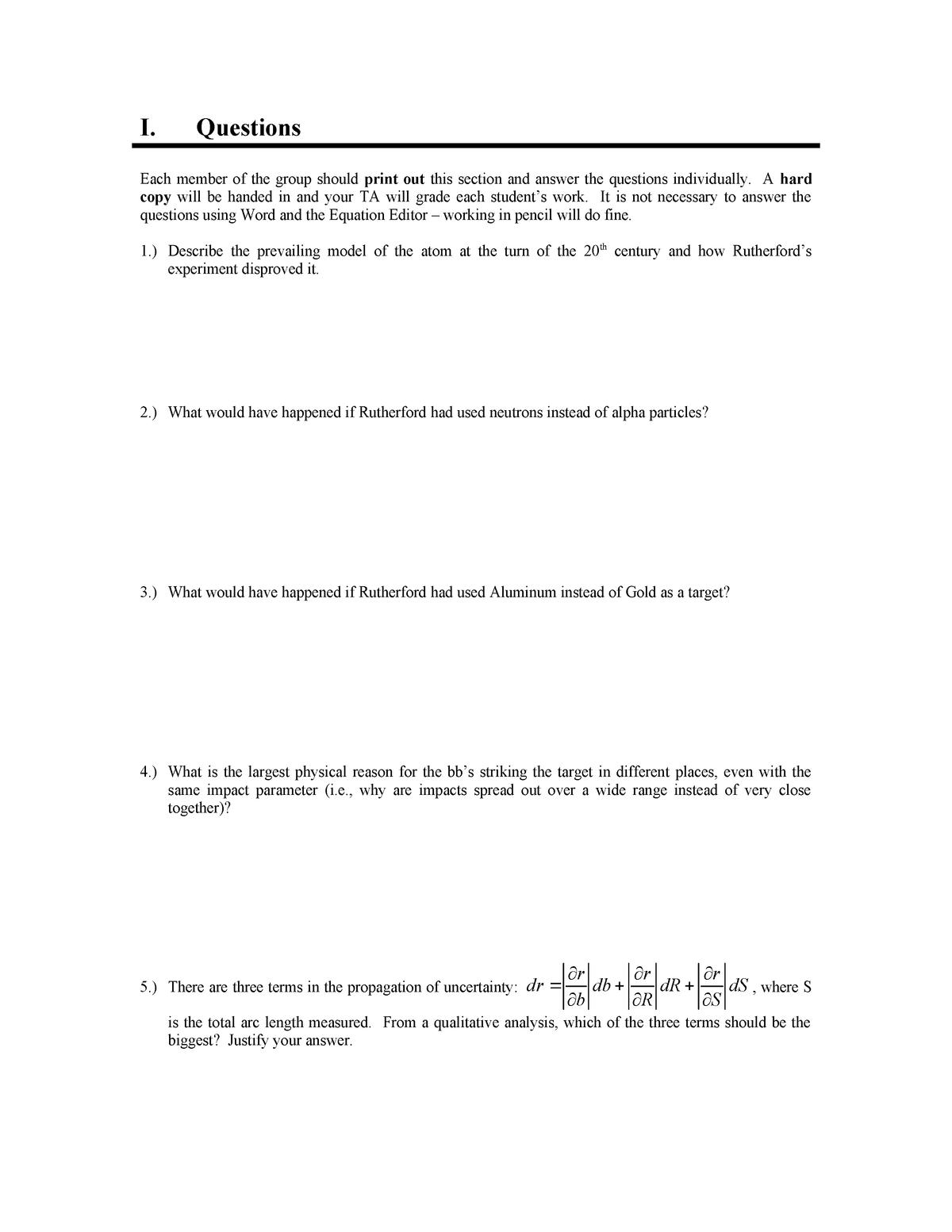 Exam 2010 - PHYS 224: Physics Lab Iii - StuDocu