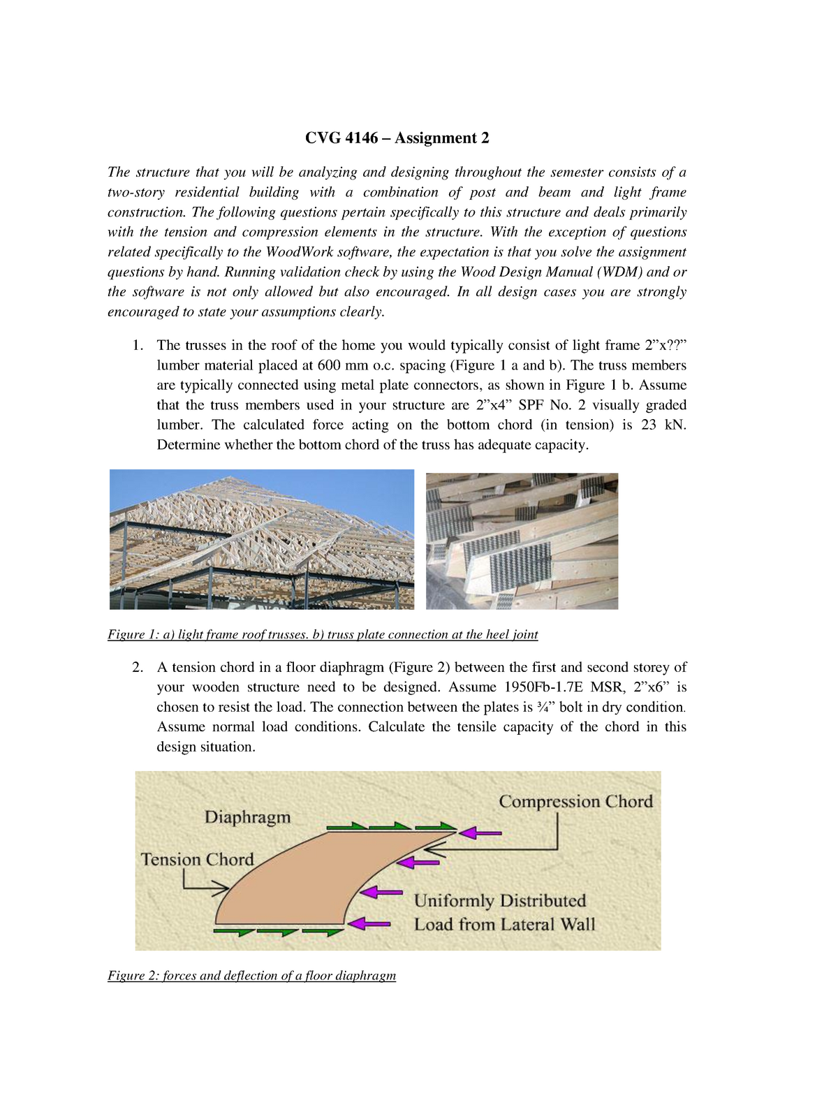 Assignment 2 - solutions - CVG4146: Structural Design in Timber