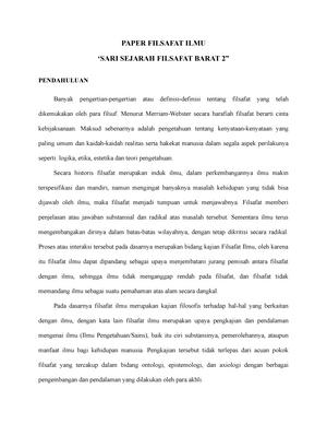 Paper Filsafat Ilmu Gradeb Metode Pengajaran Sejarah Studocu