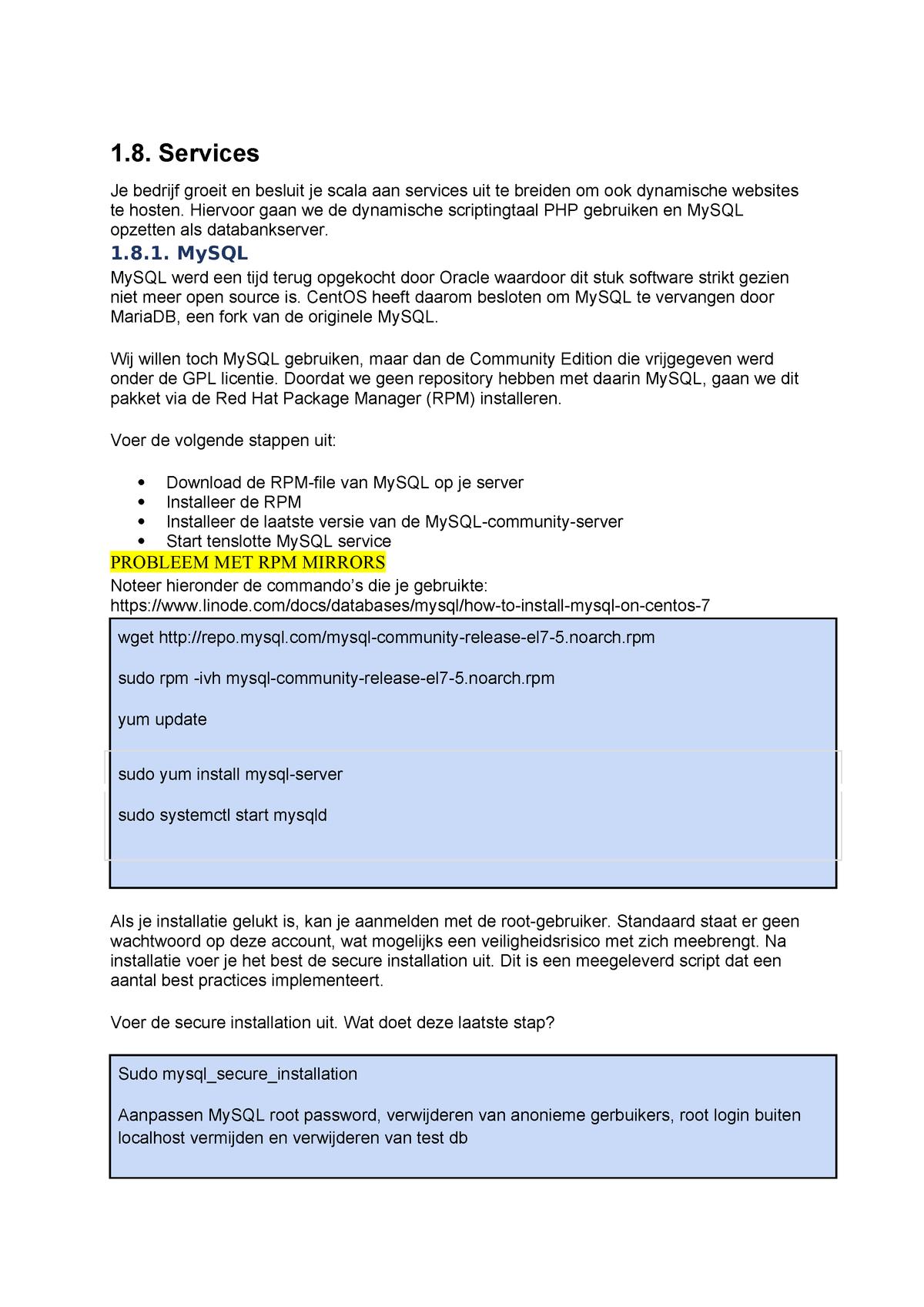 Labo 8 - Services - JPW339: Server Administration - StuDocu