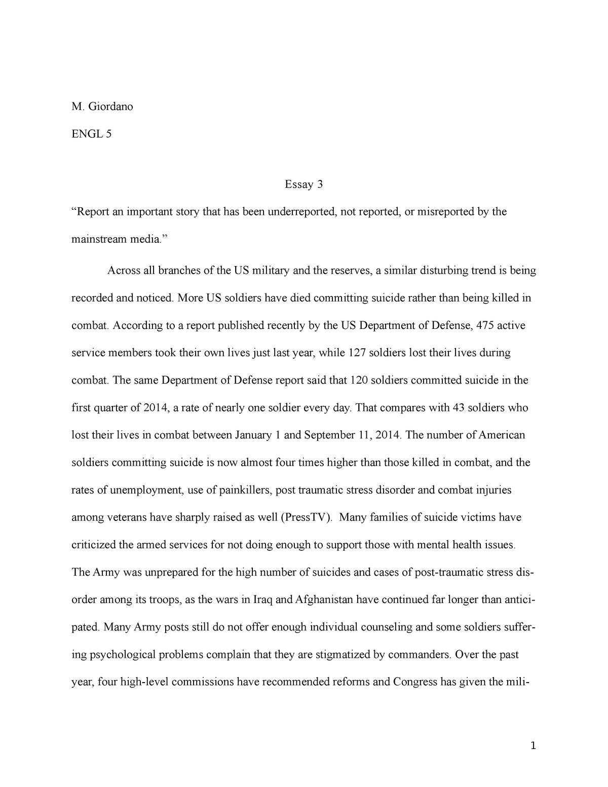 Synthesis Essay Topic Ideas  Importance Of Good Health Essay also How To Write An Essay For High School Engl A  Essay    Grade A   Engl A College Composition  Writing A Proposal Essay