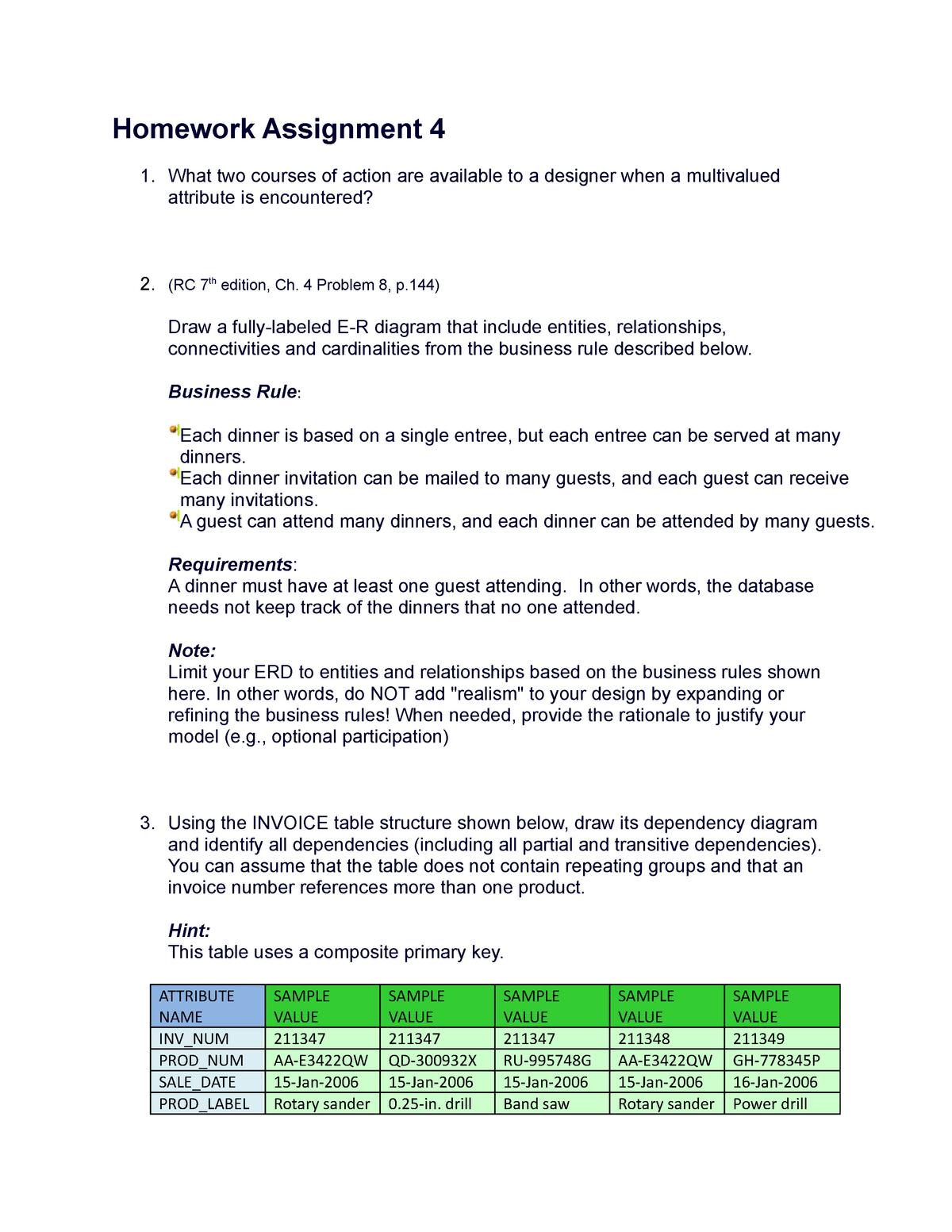 Seminar assignments - Homework 4 - ILS-Z 511 Database Design